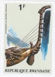 Sellos de Africa - Rwanda -  instrumentos musicales africanos