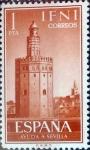 sellos de Europa - España -  Intercambio 0,30 usd 1 pta. 1963