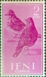 Stamps Spain -  Intercambio jxi 0,40 usd 2 ptas. 1960