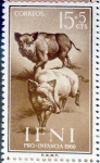 Stamps Spain -  Intercambio 0,25 usd 15 + 5 cents. 1960