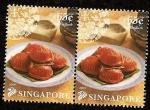 Stamps Asia - Singapore -  GASTRONOMIA - Ang Ku Kueh -pastel tortuga rojo