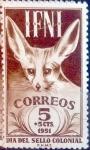 Sellos del Mundo : Europa : España : Intercambio 0,25 usd 5 + 5 cents. 1951