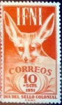 Stamps : Europe : Spain :  Intercambio 0,25 usd 10 + 5 cents. 1951