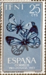 Stamps : Europe : Spain :  Intercambio 0,25 usd 25 cents. 1963