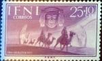 Sellos de Europa - España -  Intercambio cr2f 0,25 usd 25 + 10  cents. 1955