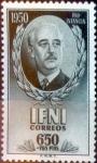 Sellos de Europa - España -  Intercambio jxi 6,00 usd 6,5 + 1,25 ptas. 1950
