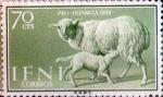 sello : Europa : España : Intercambio fda 0,30 usd  70 cents. 1959