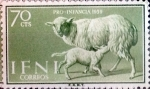 Stamps : Europe : Spain :  Intercambio 0,30 usd  70 cents. 1959