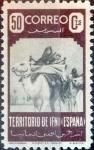 Sellos de Europa - España -  Intercambio 13,50 usd  50 cents. 1947