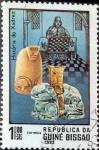 Stamps : Africa : Guinea_Bissau :  Intercambio 0,20 usd 1 peso 1983