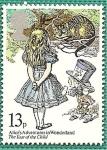 Stamps United Kingdom -  Año del niño - cuentos - Alicia en el pais de las maravillas