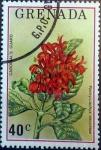 sello : America : Granada : Intercambio 0,20 usd 40 cents. 1976