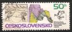 Stamps Czechoslovakia -  Geographical measurement - Sistema de coordenadas geográficas