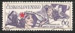 Sellos de Europa - Checoslovaquia -  Red Star, Man, Child and doves