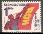 Sellos de Europa - Checoslovaquia -  10th Workers Congress, Prague - 10 congreso trabajadores praga