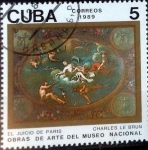 Sellos de America - Cuba -  Intercambio 0,20 usd 5 cent. 1989