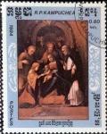 Stamps : America : Cambodia :  Intercambio 0,20 usd 80 cent. 1984