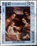 Stamps : America : Cambodia :  Intercambio 0,20 usd 1,50 r. 1984