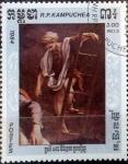 Stamps : America : Cambodia :  Intercambio 0,20 usd 3 r. 1984