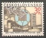 Stamps Czechoslovakia -  Televisión en la República Checa