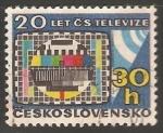 Sellos de Europa - Checoslovaquia -  20 years of television
