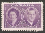 Sellos de America - Canadá -  Reyes De Inglaterra