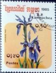 Sellos de Asia - Camboya -  Intercambio 0,20 usd 0,50 r. 1985
