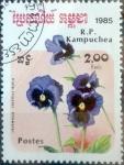 Stamps : Asia : Cambodia :  Intercambio 0,30 usd 2 r. 1985