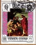 """Stamps Yemen -  """"LA RESURRECCION DE LAZARO"""" POR RUBENS"""