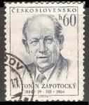Stamps Czechoslovakia -  Antonín Zápotocký