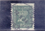 Stamps Sweden -  corona y corneta
