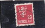Sellos de Europa - Noruega -  leon rampante