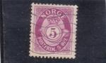 Stamps : Europe : Norway :  cifra y corneta