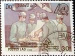 Stamps Laos -  Intercambio 0,20 usd 30 k. 1990