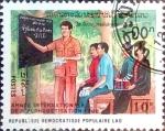 Stamps Laos -  Intercambio 0,10 usd 10 k. 1990