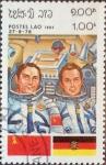 Stamps : Asia : Laos :  Intercambio agm2 0,10 usd 1 k. 1983