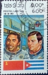 Stamps : Asia : Laos :  Intercambio agm2 0,25 usd 6 k. 1983