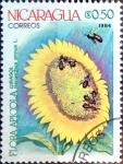 Stamps : America : Nicaragua :  Intercambio nf4b 0,20 usd 0,50 cor. 1984