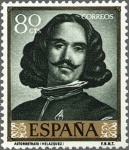 Sellos del Mundo : Europa : España : ESPAÑA 1959 1243 Sello Nuevo Pintor Diego Velázquez Autorretrato 80cts