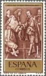 Sellos de Europa - España -  ESPAÑA 1959 1249 Sello Nuevo Cent. Paz de los Pirineos Tapiz Lebrun 1pta