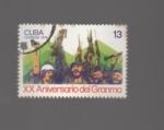 Sellos de America - Cuba -  aniversario de granma