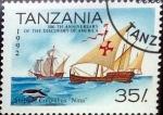 Stamps Tanzania -  Intercambio aexa 0,70 usd 35 sh. 1992