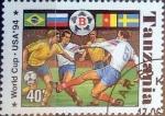 Stamps Tanzania -  Intercambio 0,50 usd 40 sh. 1994