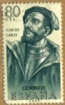 Stamps Spain -  Juan de Garay