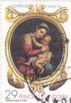 Stamps Andorra -  Navidad-94  Madona (iglo XVIII)