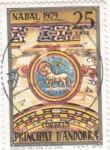 Sellos de Europa - Andorra -  Navidad-79 agnus de Santa Coloma