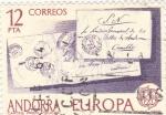 Stamps Andorra -  EUROPA CEPT- cartas prefilatélicas