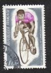 Sellos del Mundo : Europa : Francia :  Gap, Francia . Campeonato Mundial de Ciclismo
