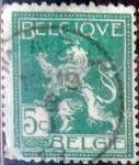 Sellos de Europa - Bélgica -  Intercambio 0,20 usd 5 cents. 1912