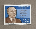 Stamps Italy -  100 Aniv nacimiento A. Fanfani